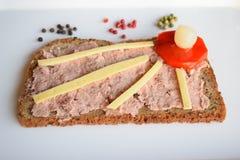 Alimento, Liversausage, salsiccia, Butscher, GermanSausage, più breakfest, partyfood Immagine Stock Libera da Diritti