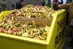 Alimento livre no quadrado de Trafalgar Imagem de Stock Royalty Free
