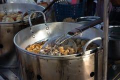 Alimento locale del mercato della Tailandia Immagini Stock