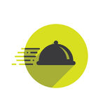 Alimento Logo Fast Delivery Icon Fotografia Stock Libera da Diritti
