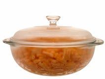 Alimento: Maccheroni & formaggio cotti Immagine Stock