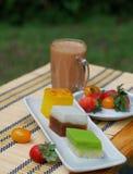 Alimento malasio - té al aire libre de la tarde Fotos de archivo libres de regalías