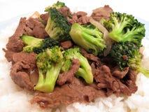 Alimento-Manzo cinese con broccolo Fotografie Stock