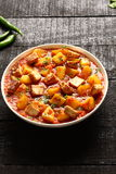 Alimento masala-indiano del paneer di Aloo Gobi Fotografie Stock