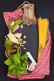 Alimento mediterráneo Pastas imagen de archivo