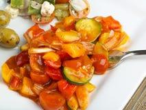 Alimento mediterráneo sano Foto de archivo libre de regalías