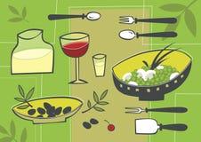Alimento mediterrâneo ilustração do vetor