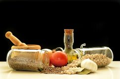 Alimento Mediterraneo Fotografia Stock Libera da Diritti