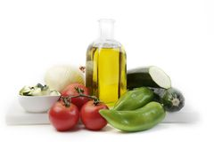 Alimento mediterrâneo saudável Fotos de Stock Royalty Free