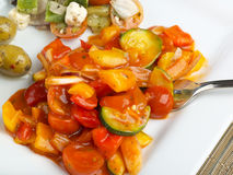 Alimento mediterrâneo saudável Foto de Stock Royalty Free