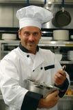 Alimento mescolantesi del cuoco unico Immagine Stock