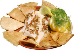 Alimento messicano con miele servito con le tortiglii Fotografie Stock Libere da Diritti