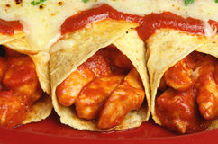 Alimento messicano, Enchiladas del pollo Fotografia Stock