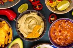 Alimento messicano misto Fotografia Stock Libera da Diritti