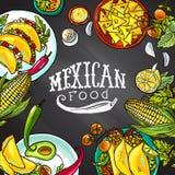Alimento mexicano ilustração stock