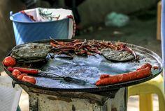 Alimento mexicano da rua imagens de stock