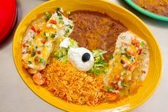 Alimento mexicano do restaurante imagens de stock
