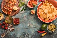 Alimento mexicano tradicional fotos de stock