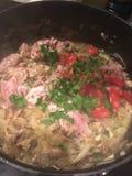 Alimento misturado cozinhado imagens de stock