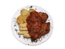 Alimento in modo bello organizzato su una zolla Fotografie Stock