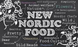Alimento nórdico novo ilustração stock