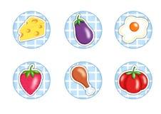 Alimento na cozinha Fotografia de Stock Royalty Free