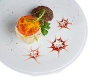 Alimento na placa Imagens de Stock Royalty Free