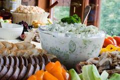 Alimento na tabela Foto de Stock Royalty Free