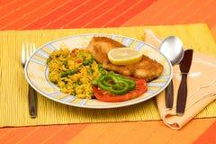 Alimento na tabela Fotos de Stock Royalty Free