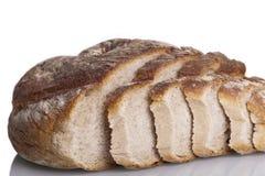 Alimento natural cozido fresco saboroso do baguette do bolo do pão Imagem de Stock