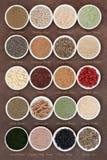 Alimento natural do body building Foto de Stock Royalty Free