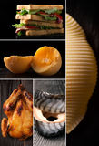 Alimento natural Folha da foto collage fotos de stock