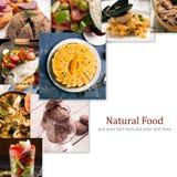 Alimento natural Folha da foto collage foto de stock