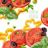 Alimento natural orgânico do fundo 100% fresco Fotos de Stock