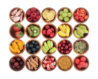 Alimento natural para o remédio frio foto de stock