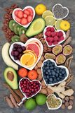 Alimento natural para reduzir o esforço e a ansiedade imagem de stock royalty free