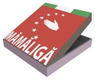 Alimento nazionale dell'Abkhazia - Mamaliga Fotografia Stock
