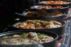 Alimento nella via Fotografia Stock