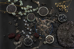 Alimento nero Fotografie Stock Libere da Diritti