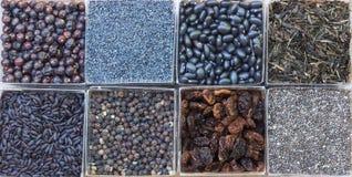 Alimento nero Fotografia Stock Libera da Diritti