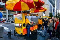 Alimento New York della via Fotografia Stock