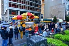 Alimento New York della via Fotografia Stock Libera da Diritti