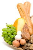 Alimento no fundo branco imagem de stock
