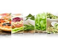 Alimento non sano sano Immagini Stock