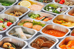 Alimento nos recipientes Imagem de Stock