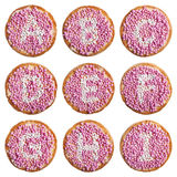 Alimento olandese: 'il beschuit ha incontrato l'alfabeto dei muisjes', A-I Fotografie Stock
