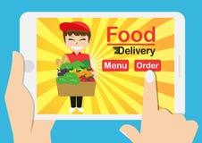 Alimento online Fotografia Stock Libera da Diritti