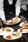 Alimento operato di cerimonia nuziale Fotografie Stock