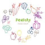 Alimento orgânico saudável do vegetariano do eco ilustração stock