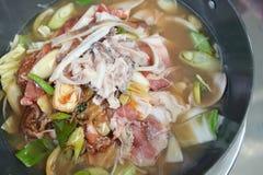 Alimento orientale asiatico coreano Immagini Stock Libere da Diritti